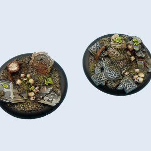 Micro Art Studio   Graveyard Bases Graveyard Bases, Wround 50mm (1) - B00843 - 5900232358632