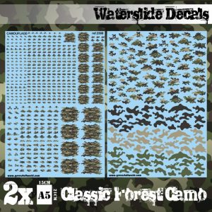 Green Stuff World   Decals Waterslide Decals - Classic Forest Camo - 8436574507478ES - 8436574507478