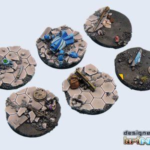 Micro Art Studio   Urban Fight Bases Urban Fight Bases, Round 40mm (2) - B03422 - 5900232356058