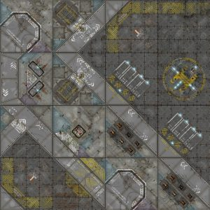 Micro Art Studio   Tabletop Gaming Mats Terminus Segments Modular Mat - Industrial - X31602 -