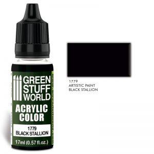 Green Stuff World   Acrylic Paints Acrylic Color BLACK STALLION - 8436574501384ES - 8436574501384