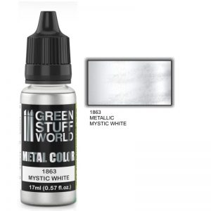 Green Stuff World   Acrylic Metallics Metallic Paint MYSTIC WHITE - 8436574502220ES - 8436574502220