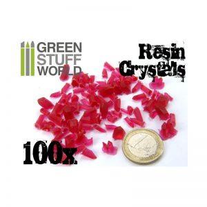 Green Stuff World   Green Stuff World Conversion Parts RED Resin Crystals - 8436554362813ES - 8436554362813