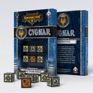 Q-Workshop   Q-Workshop Dice Warmachine Cygnar Faction D6 Dice (6) - SPWA45 - 5907699492053