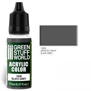 Green Stuff World   Acrylic Paints Acrylic Color SLATE GREY - 8436574501971ES - 8436574501971
