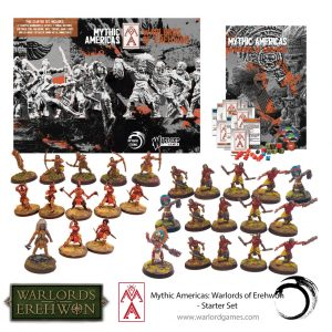Warlord Games Warlord of Erehwon  Warlords of Erehwon Mythic America Aztec & Nations Starter Set - 721510002 -