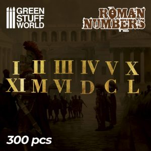 Green Stuff World   Etched Brass Etched Brass Roman Numbers & Symbols - 8436574504729ES - 8436574504729