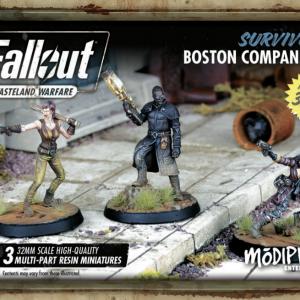 Modiphius Fallout: Wasteland Warfare  Fallout: Wasteland Warfare Fallout: Survivors Boston Companions - MUH051260 - 5060523340378