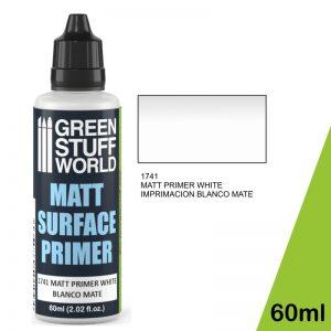 Green Stuff World   Surface Primers Matt Surface Primer 60ml - White - 8436574501001ES - 8436574501001