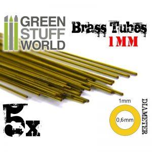 Green Stuff World   Brass Rods Brass Tubes 1mm - 8436554367658ES - 8436554367658