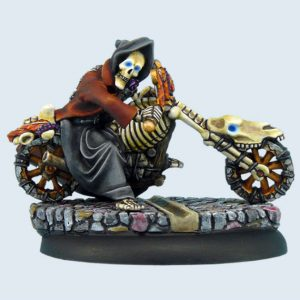 Micro Art Studio   Discworld Miniatures Discworld Death on motorcycle (1) - D03100 - 5900232352326