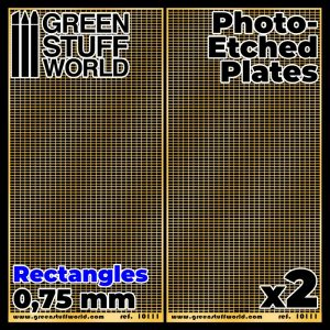 Green Stuff World   Etched Brass Photo-etched Plates - Medium Rectangles - 8436574506105ES - 8436574506105
