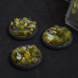 Gamers Grass   Battle-ready Highland Bases Highland RoundLip 50mm (x3) - GGB-HLRL50 -