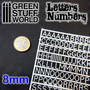 Green Stuff World   Modelling Extras Letters and Numbers 8mm - 8436554364381ES - 8436554364381