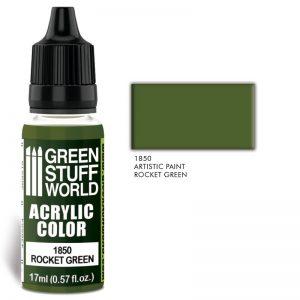 Green Stuff World   Acrylic Paints Acrylic Color ROCKET GREEN - 8436574502091ES - 8436574502091