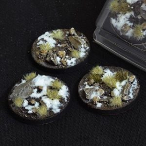 Gamers Grass   Battle-ready Winter Bases Winter Round 50mm (x3) - GGB-WR50 -
