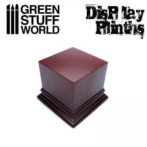 Green Stuff World   Display Plinths Square Top Display Plinth 6x6 cm - Hazelnut Brown - 8436574501629ES - 8436574501629