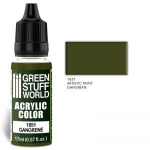 Green Stuff World   Acrylic Paints Acrylic Color GANGRENE - 8436574502107ES - 8436574502107