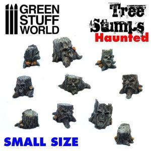 Green Stuff World   Green Stuff World Conversion Parts Small Haunted Tree Stumps - 8436574500455ES - 8436574500455
