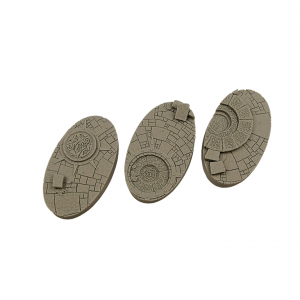 Micro Art Studio   Ancient Bases Arcane Bases, Oval 75mm (2) - B03975 - 5900232357017