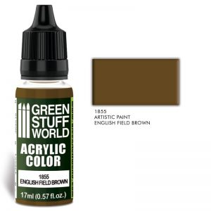 Green Stuff World   Acrylic Paints Acrylic Color ENGLISH FIELD BROWN - 8436574502145ES - 8436574502145
