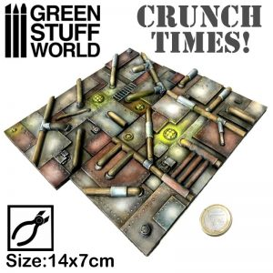 Green Stuff World   Modelling Extras Industrial Plates - Crunch Times! - 8436574502565ES - 8436574502565