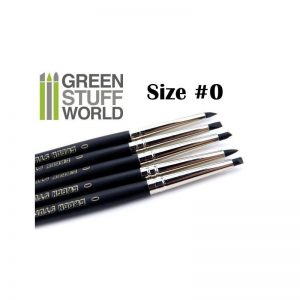Green Stuff World   Green Stuff World Tools Colour Shapers Brushes SIZE 0 - BLACK FIRM - 8436554360239ES - 8436554360239
