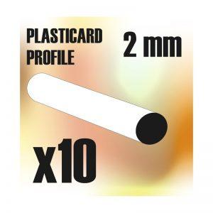 Green Stuff World   Plasticard ABS Plasticard - Profile ROD 2 mm - 8436554366729ES - 8436554366729