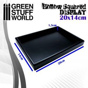 Green Stuff World   Display Plinths Hollow squared display 20x14 cm Black - 8436574503746ES - 8436574503746