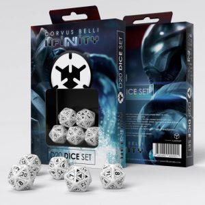 Q-Workshop Infinity | Infinity RPG  The Aleph Aleph D20 Dice Set - 285048 - 2850480000001