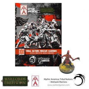 Warlord Games Warlord of Erehwon  Warlords of Erehwon Mohawk Warriors - 722214002 - 5060572508750