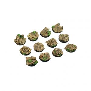 Micro Art Studio   Wood Bases Wood Bases, Round 25mm (5) - B00621 - 5905133597821