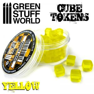 Green Stuff World   Status & Wound Markers Yellow Cube tokens - 8436554369621ES - 8436554369621