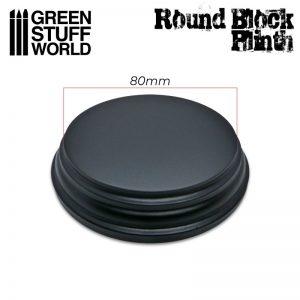 Green Stuff World   Display Plinths Round Top Display Plinth 8cm - 8436574505696ES - 8436574505696