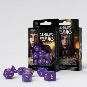 Q-Workshop   RPG / Polyhedral Classic Runic Purple & yellow Dice Set (7) - SCLR93 - 5907699494217