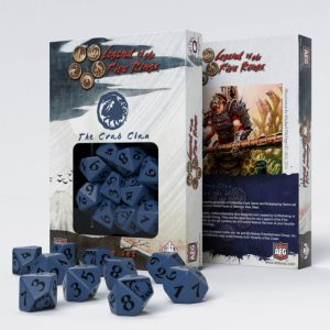 Q-Workshop   D10 Legend of the Five Rings Crab Clan 10D10 Dice (10) - SL5R56 - 5907699492275