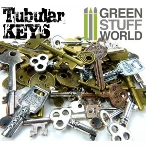 Green Stuff World   Modelling Extras Tubular KEYS Beads 85gr - 8436554367863ES - 8436554367863
