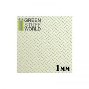 Green Stuff World   Plasticard ABS Plasticard - Thread DIAMOND 1mm Textured Sheet - 8436574500059ES - 8436574500059