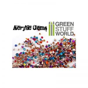 Green Stuff World   Modelling Extras Micro Acrylic Gems - 1mm to 2.5mm - 8436554360338ES - 8436554360338