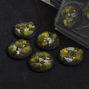 Gamers Grass   Battle-ready Highland Bases Highland RoundLip 40mm (x5) - GGB-HLRL40 -