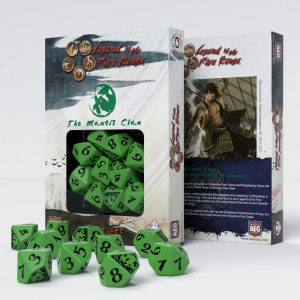 Q-Workshop   Q-Workshop Dice Legend of the Five Rings Mantis Clan 10D10 Dice (10) - SL5R60 - 5907699492312