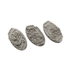 Micro Art Studio   Dark Temple Bases Dark Temple Bases, Oval 75mm (2) - B02275 - 5900232353286