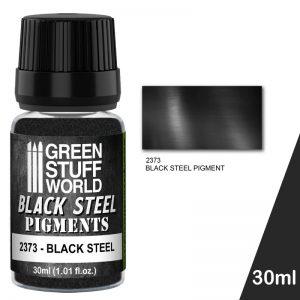 Green Stuff World   Powder Pigments Pigment BLACK STEEL - 8436574507324ES - 8436574507324
