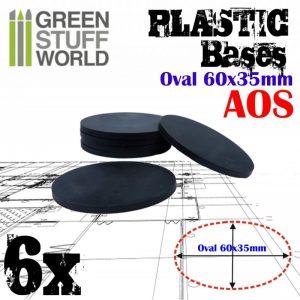 Green Stuff World   Plain Bases Plastic Bases - Oval Pill 60x35mm AOS - 8436574503883ES - 8436574503883