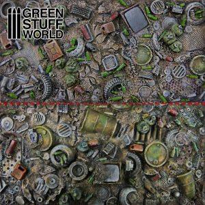 Green Stuff World   Modelling Extras Dump Yard Plates - Crunch Times! - 8436574505337ES - 8436574505337