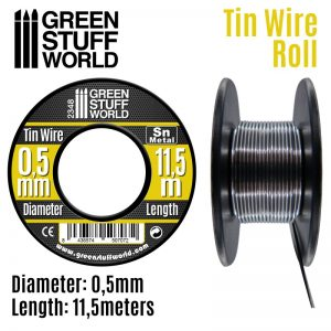 Green Stuff World   Metal Sheets & Wire Flexible tin wire roll 0.5mm - 8436574507072ES - 8436574507072