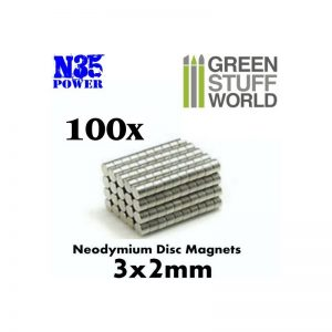 Green Stuff World   Magnets Neodymium Magnets 3x2mm - 100 units (N35) - 8436554365616ES - 8436554365616