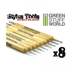 Green Stuff World   Green Stuff World Tools 8x Sculpting STYLUS tool set - 8436554363353ES - 8436554363353