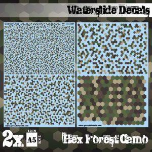 Green Stuff World   Decals Waterslide Decals - Hex Forest Camo - 8436574507508ES - 8436574507508