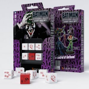 Q-Workshop   Q-Workshop Dice Batman Miniature Game - D6 Joker Dice Set (6) - ACC0032 - 8437013053709